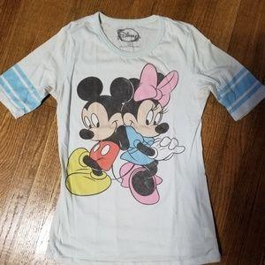 Disney Mickey and Minnie baseball style t shirt